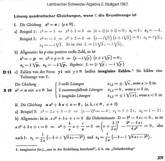 lösung quadratische gleichung vorgehen